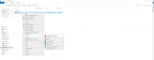 problemi visualizzazione documento scaricato apri con adobe reader
