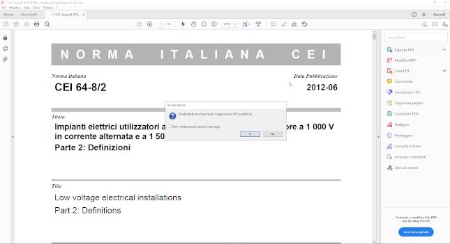 problemi visualizzazione documento scaricato adobe reader